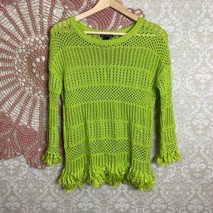 Chelsea & Theodore Fringe Hem Sweater